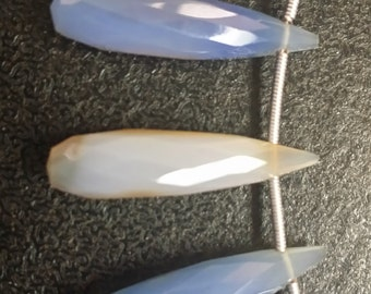 English Blue Chalcedony Long Drops