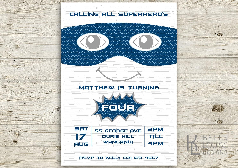 Superhero Birthday Invitation | Printable Invitation | Super hero ...