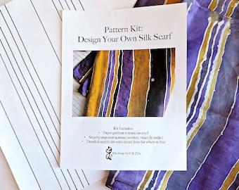 Silk Painting Craft Pattern – Tutorial - Pattern Kits - DIY Kit