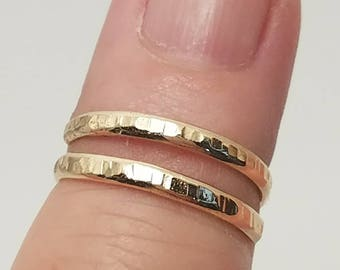 Knuckle Ring, Gold Knuckle Ring, Above Knuckle Ring, Gold Midi Ring, Stacking Ring, Gold Wrap Ring, Boho Ring, Gold Ring, Hammered Gold Ring
