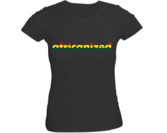 Africanized Red Gold and Green Shirt for Women