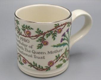 1980 Queen Elizabeth the Queen Mother 80th Birthday Mug Commemorative