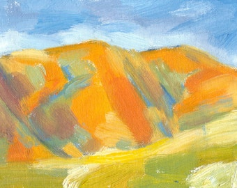 oil painting landscape colorful colourful 6x8 canvas Secret Valley Shadows No. 3