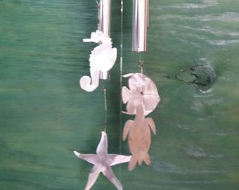 Sea life wind chimes