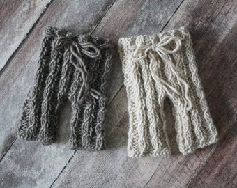 PDF Knitting Pattern - newborn photography Elijah_Cable_pants #99