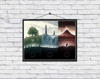 The Lord of the Rings Trilogy unique Poster