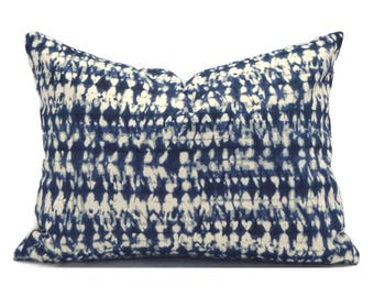 Lumbar Pillow Cover ANY SIZE Decorative Pillow Cover Designer Pillow Blue Pillow Mill Creek Pembroy Ink