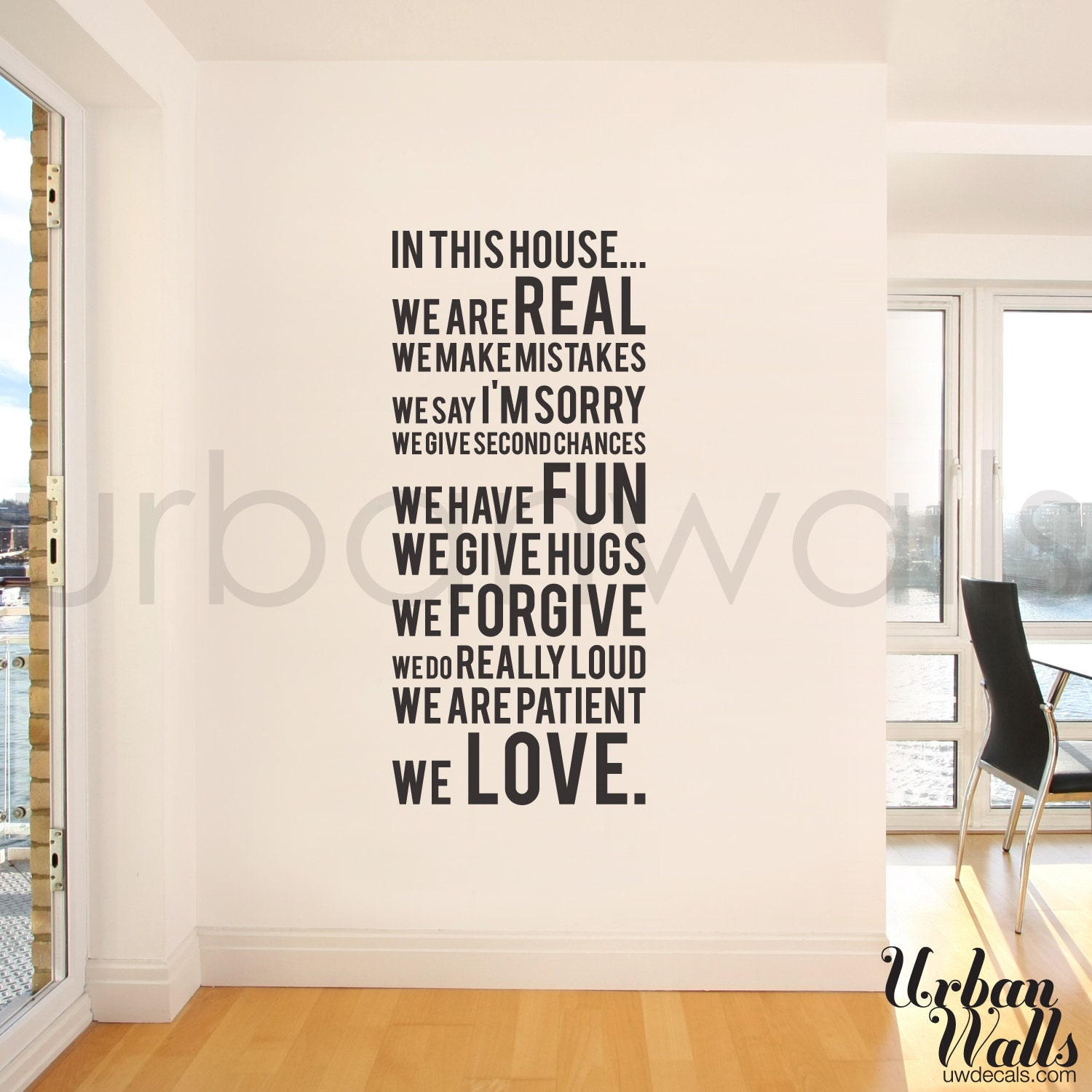 Vinyl Wall Sticker Decal In this house we do