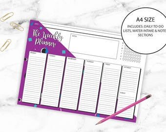 Weekly Planner Printable Fun Graphic Stationery A4