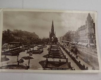 Edinburgh, Scottish Postcard 1943 Showing Princes St ,