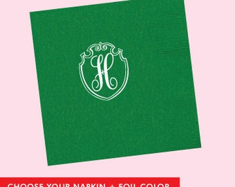 Custom Shield Napkin  *no custom printing plate fee*