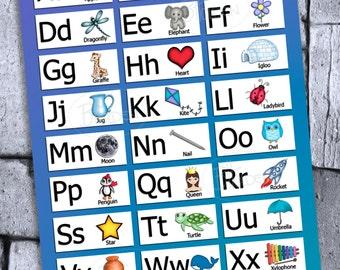 Alphabet Chart Poster Print