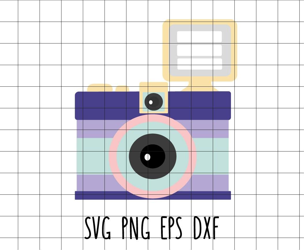 Süße retro-Kamera Vintage Reflex Svg Dxf Eps Vektor Clip Art