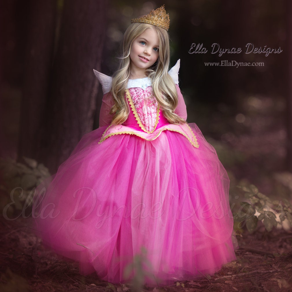 Sleeping Beauty Aurora Costume Pink Blue Dress Maleficent