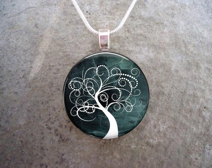 Tree Jewelry - Glass Pendant Necklace - Tree of Life Jewellery - Tree 22