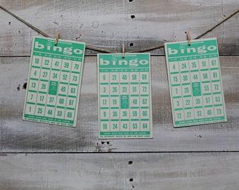 20 Vintage Bingo Game Cards, Transogram Bingo Cards, 1960's, Wedding Games