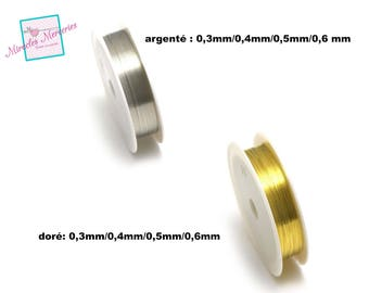 1 spool of 10 m, gold/silver choose thick copper wire