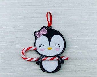 Penguin Candy Cane Christmas Tree Decoration - Stocking Filler - Stuffer - Family Gift - Tree Ornament - Penguin Ornament - Home Decor