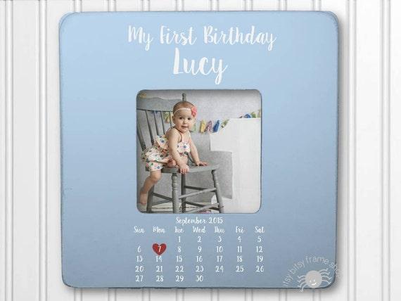 Baby Birthday Frame First Birthday Gift 1st Birthday 1st