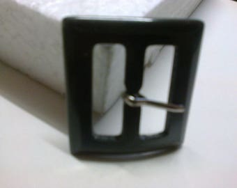 Rectangular gray pronounced 2.7 cm plastic buckle * BO96 *.