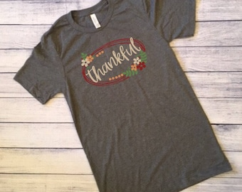 Thankful Grateful Blessed Tee Shirts