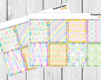 Planner Stickers Full Box Shaded Centers Vertical Horizontal Easter Planner Stickers eclp made for Erin Condren PS419d
