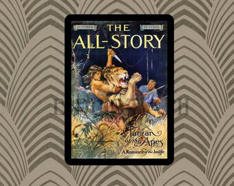 Tarzan Of The Apes - The All-Story - Magazine Cover - Burroughs -  Digital Art - Antique Art  Book Plate - Book Illustration Book Art