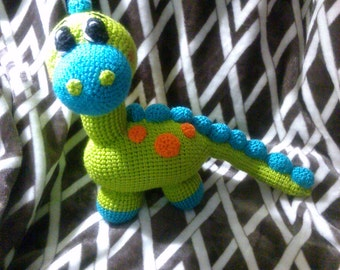 Crochet Dinosaur Brontosaurus any colors you want
