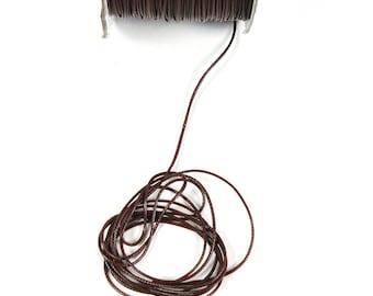 2 meters of Brown waxed cord 1 mm in diameter