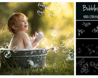 Bubbles Photoshop Overlays, Photo editing, Realistic Soap Bubble Photo Effect, Instant Download, Photoshop Overlay, Photography Overlay