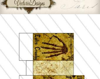 Halloween Favor Bag Printable Halloween gift hand treats instant download printable image digital collage sheet - VD0140