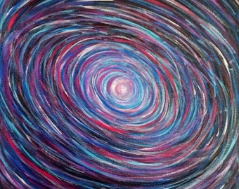 Galaxy Space Original Art Painting Abstract