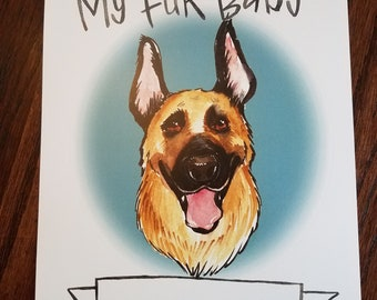 Personalized Print for your German Shepherd