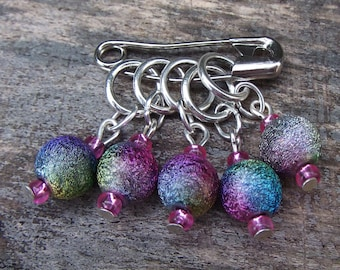 Ten Stardust stitch markers