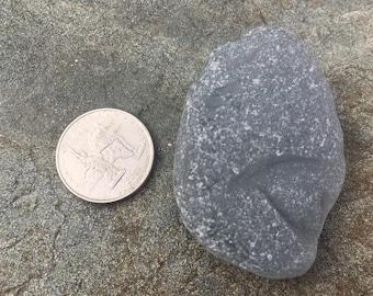 Genuine Beachglass Seaglass, jewelry supplies.  Large gray chunk!