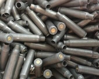 223 Steel Bullet Casings! Set of 10. Dark Steel Tone! Empty Spent Ammo Cartridge Shells