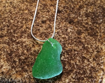 Necklace made from antique Greasy Creek Glass. Appalachian Art