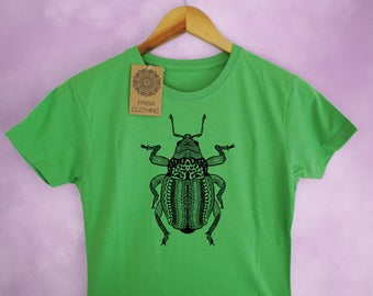 Weevil Beetle Insect Print Ladies T-Shirt