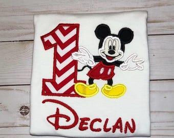Mickey Mouse Birthday Shirt, 1st Birthday Shirt for Boys, Mickey Mouse 1st Birthday Shirt, Mickey Mouse Birthday Party, Mickey Birthday