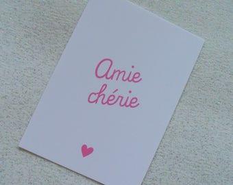 """Dear friend"" card - gift girlfriend gift girlfriend"