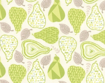 Green Pear Fabric - North Woods by Kate Spain from Moda 1 Yard