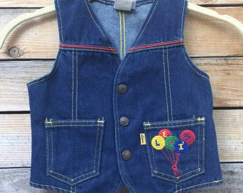 vintage kids Levi's vest