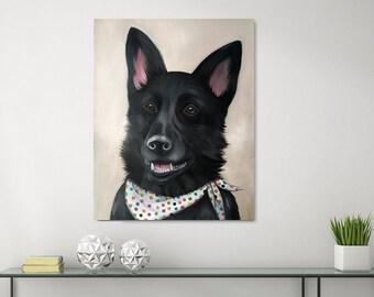 Custom Painted Pet Portrait Oil or Acrylic on canvas
