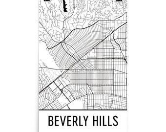 Beverly Hills Map, Beverly Hills Art, Beverly Hills Print, Beverly Hills CA Poster, Beverly Hills Wall Art, Beverly Hills Gift, Decor, Print
