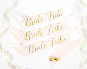 Bride Tribe Bachelorette Sashes in Font #3 - Bachelorette Sash - Bridal Party Gift - Bride Tribe - Bridesmaid Gift - Bachelorette Party Sash