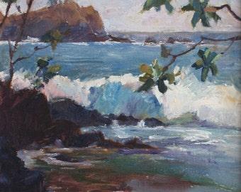"Alau Island, Oil on Canvas, 12"" x 9"""