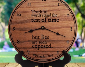 Truthful Words Stand The Test of Time - But Lies Are Soon Exposed - Proverbs 12:9 - Custom Verse - Custom Scripture - Bible
