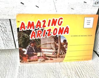 Vintage postcards Amazing Arizona souvenir view folder 1960s/ free shipping US