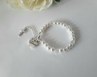 Holy Communion Gift for Girls, First Communion, Gift for Goddaughter, Gift for Granddaughter,Christening Gift, Communion Bracelet