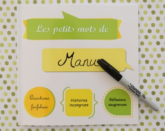 Notebook - kid quotes (green-yellow-orange)